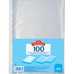 Lot de 100 pochettes perforées format A4