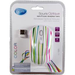 Souris optique sans fil avec récepteur multi design