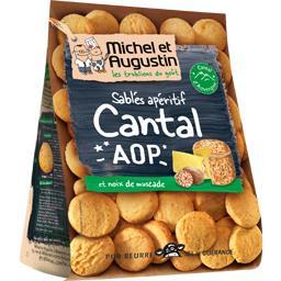Sablés apéritif au Cantal AOP et pointe de noix de m...