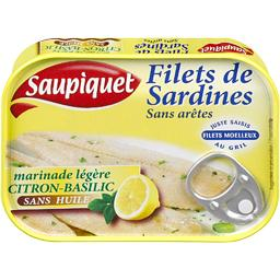 Filets de sardines sans arêtes marinade citron-basil...