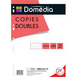 Copies doubles perforées x200 pages, grands carreaux...