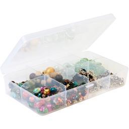 Boîte translucide 8 séparations fixes incolore 24,5x15x5,2cm