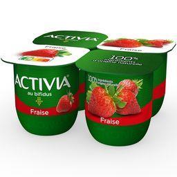 Activia - Lait fermenté au bifidus fraise
