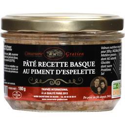Conserverie Gratien Pâté recette basque au piment d'Espelette le pot de 180 g