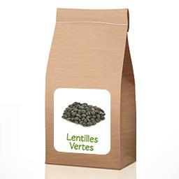 Lentilles vertes BIO À partir de 50 gr