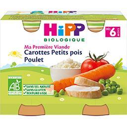 Ma Première Viande - Carottes petits pois poulet BIO...