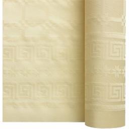 Nappe damassée 7 x 1,20 m ivoire