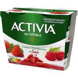 Activia - Spécialité laitière fraise framboise & goj...