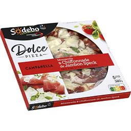 Dolce Pizza - Pizza Campanella mozzarella & chiffonn...