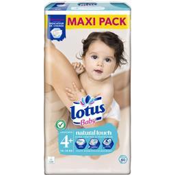 Lotus Baby Couches Touch taille 4 + , 10-16 kg le paquet de 60 couches -