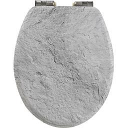 Abattant WC fantaisie Breton 45x36 cm gris