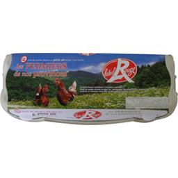 Œufs fermiers de poules élevées en plein air label rouge