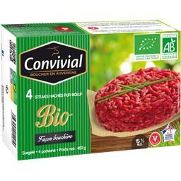 Steaks hachés pur bœuf façon bouchère BIO