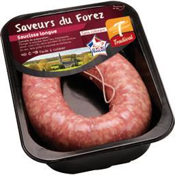 Tradival Saucisse longue la barquette de 350 g