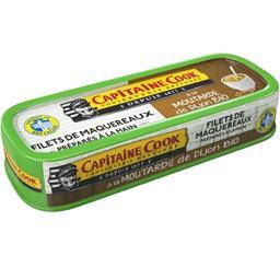 Capitaine Cook Filets de maquereaux à la moutarde de Dijon BIO la boite de 115 g