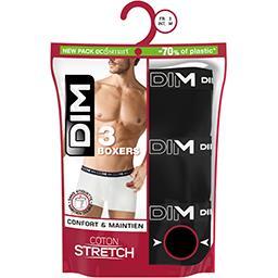 Boxers homme coton stretch noir/noir/noir taille 4