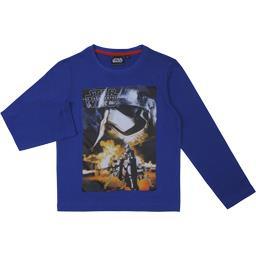 Tee-shirt garçon bleu manches longues taille 6 ans