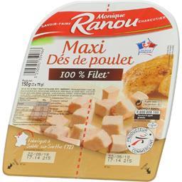 Maxi dés de poulet 100% filet