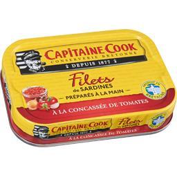 Filets de sardines à la concassée de tomates