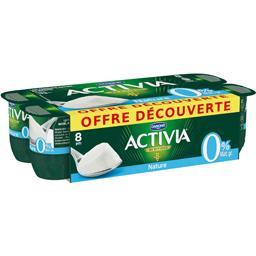 Yaourts nature Activia Danone Au bifidus - 0% mg - 8x125g