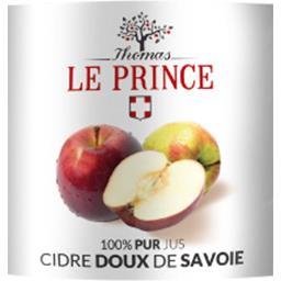 100% pur jus cidre doux de Savoie