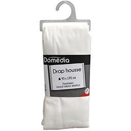 Linge de lit drap housse blanc 90x190 cm