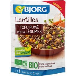 Lentilles tofu fumé petits légumes BIO