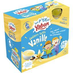 Les P'tits Yabon Goûters lactés vanille les 4 gourdes de 85 g