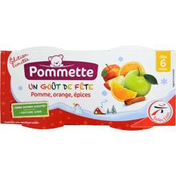 Pommette Pomme, orange, épices, dès 6 mois les 2 pots de 120 g