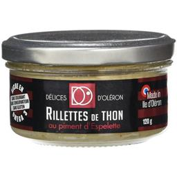 Délice d'Oléron Rillettes de Thon aux Piments d'Espelette 120 g -
