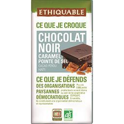 Ethiquable Chocolat noir caramel pointe de sel BIO