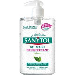 Gel mains désinfectant sans rinçage
