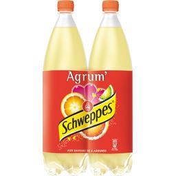 Schweppes Soda Agrum' aux saveurs de 4 agrumes les 2 bouteilles de 1,5 l