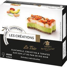 Le Trio Guacamole crevettes & tomate lit de pain de ...
