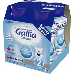 Lait bébé liquide Calisma, de 6 à 12 mois