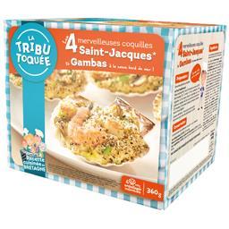 La Tribu Toquée Coquilles Saint-Jacques et gambas à la sauce bord de... les 4 coquilles de 90 g