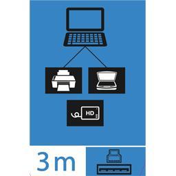 Câble USB 3,0 mâle A/mâle B, 3 m