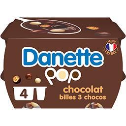 Danone Danone Danette - Crème dessert POP 3 chocos