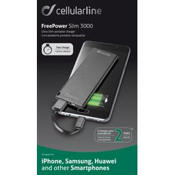 Chargeur portable ultramince et rapide noir