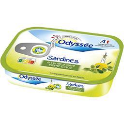 Odyssée Sardines à l'huile d'olive vierge extra la boite de 95 g net égoutté
