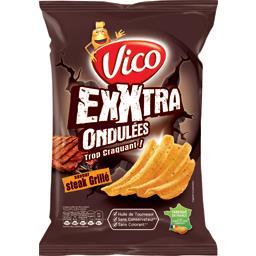 Chips Exxtra ondulées saveur steak grillé