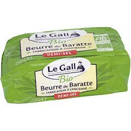 Beurre de baratte moulé au sel de Guérande, BIO
