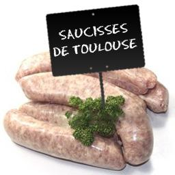 Saucisses de Toulouse sans colorant
