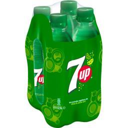 Seven Up Boisson gazeuse citron citron vert le pack de 4 bouteilles de 50 cl
