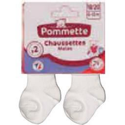 Mi-chaussettes revers blanc t24/26