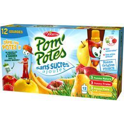 Pom'Potes - Compote assortiment sans sucres ajoutés