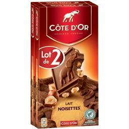 Chocolat lait noisettes