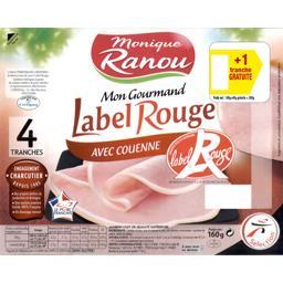 Monique Ranou Jambon avec couenne - Mon Sélection la barquette de 4 tranches 200 gr