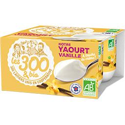 Les 300 & Bio Les  & bio Yaourt vanille BIO les 4 pots de 125 g