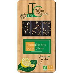 Bouchées chocolat noir cœur citron BIO